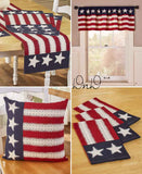 Patriotic Americana Set of 3 Kitchen Towels Cotton Old Glory Flag Home Decor