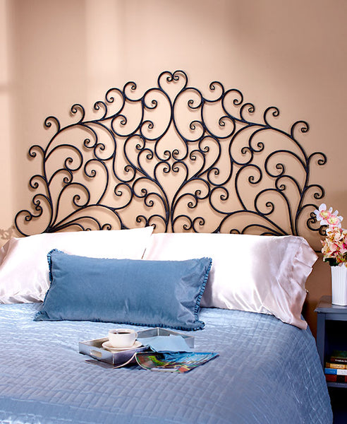 Creative Bedroom Wall Decor Brass Bed Bedroom Design Bedroom Design Black Bedroom Cupboards At Ikea: Headboard Queen Or King Wall Mounted Metal Scroll