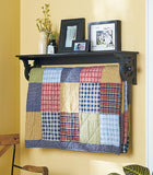 Quilt Rack with Shelf black