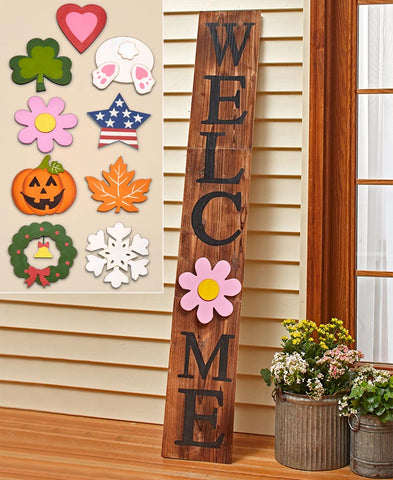 Seasonal Interchangeable 10-Pc. Seasons & Holidays 5-Ft. Welcome Sign Porch