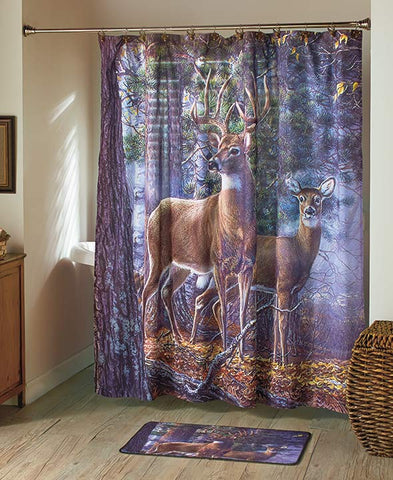 Deer Theme Bathroom Shower Curtain