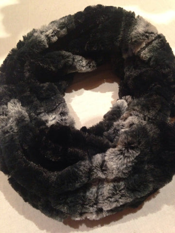 Nemesis Antique Vintage Styled infinity scarf cool Furry knit