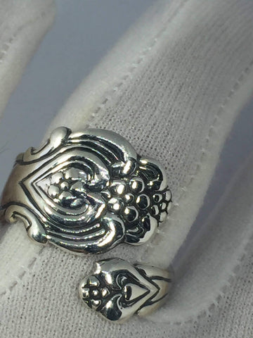 Vintage 1970's Sterling Silver Spoon Handle Adjustable Ring