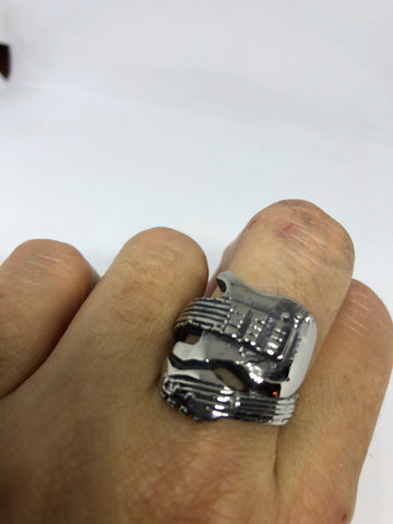 Vintage Gothic Stainless Steel Guitar Mens Ring