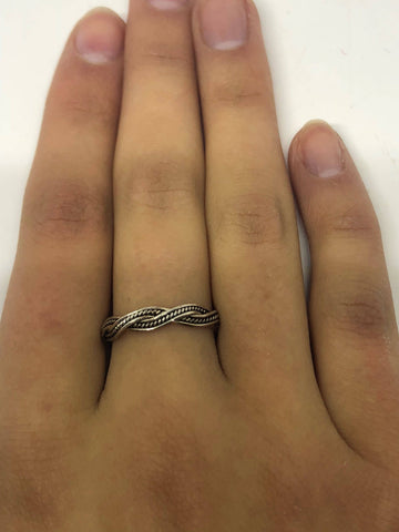 Brooklyn Line Micro 925 Sterling Silver Band ring