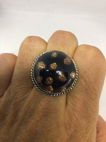 Vintage Venetian Art Glass ring about an inche ring