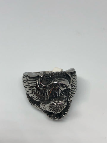 Vintage American Southwestern Mens Eagle and Snake Ring