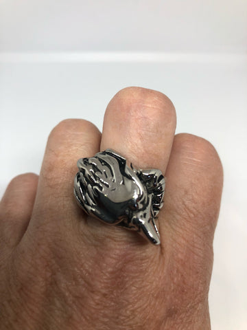 Vintage American Eagle Southwestern Mens Eagle Ring