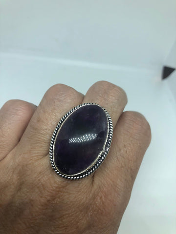 Vintage Genuine Purple Amethyst ring