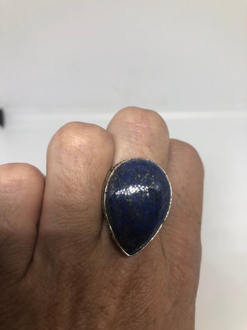Vintage Blue Genuine Lapis Lazuli adjustable ring