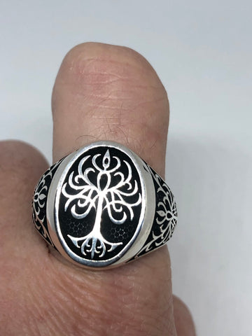 Vintage Celtic tree of life 925 Sterling Silver Ring