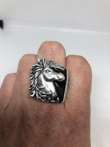 Vintage Native American Style Horse Mens Ring