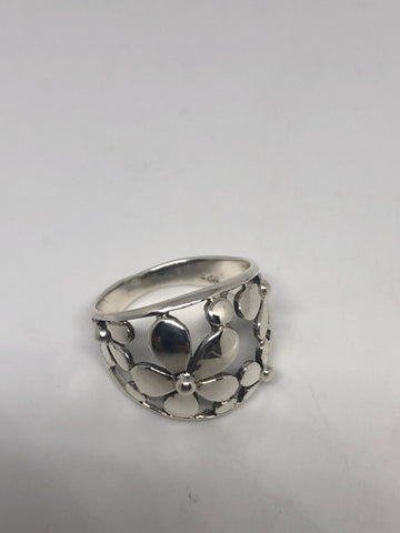 Vintage 1970's 925 Sterling Silver Daisey Flower Ring