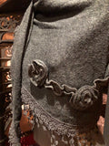 Nemesis Vintage Victorian Style Antique Lace Black Coloered Summer Scarf Wrap