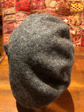 Vintage gray wool felt 10 in beret hat