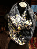 Antique Vintage Styled Print Infinity Scarf Shawl