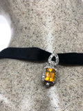 Vintage Genuine Orange Fire Opal 925 Sterling Silver Pendant Necklace