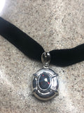 Vintage Handmade 925 Sterling Silver Genuine Garnet Antique Pendant Necklace