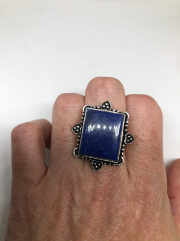 Vintage Blue Genuine Lapis Lazuli Cocktail Ring
