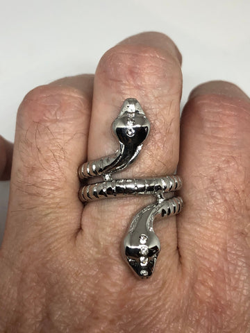 Vintage Gothic Stainless Steel Snake Ring