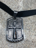 Vintage Stainless Steel Ankh Pendant Necklace