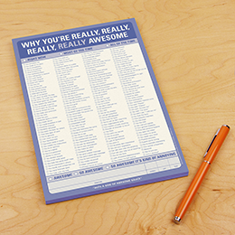 Why You're Really Awesome Notepad - Great Secret Santa Gifts Under $20