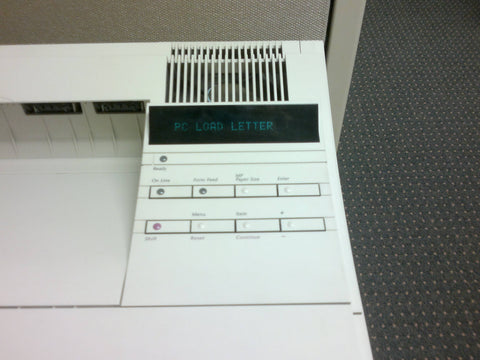 office space printer pc load letter