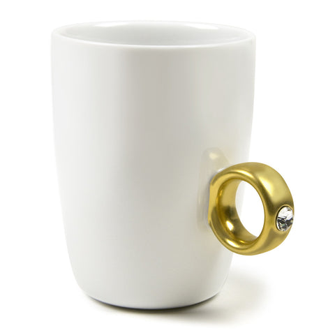 Coffee Mug 2-Carat Gold Ring