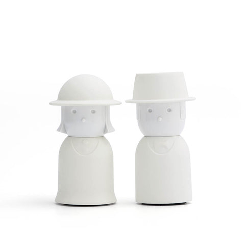 Mr. & Mrs. Salt & Pepper Shaker Set (White)
