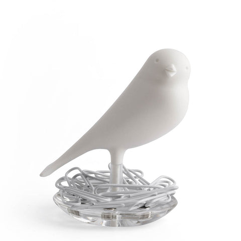 Sparrow Nest Paperclips Set (White)