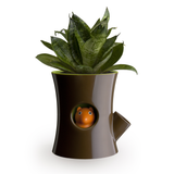 Log & Squirrel Planter Pot (Brown/Green)