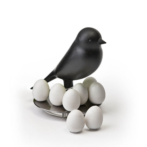 Sparrow Egg Magnets Set (Black)