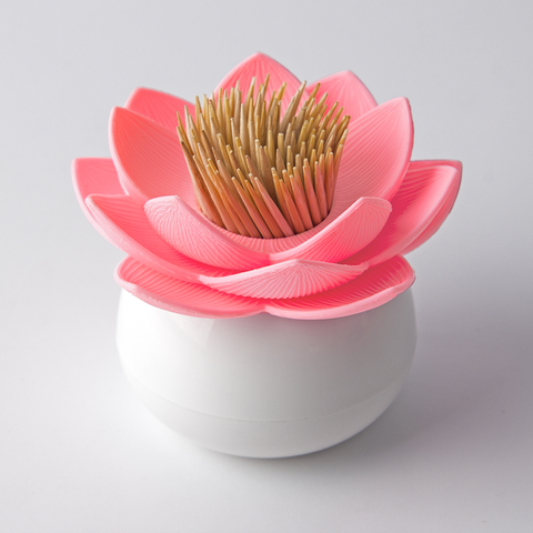 Lotus Toothpick Holder (White/Pink)