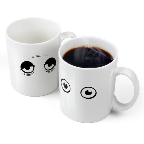 Coffee Mug Wake Up! Heat-Sensitive Mug