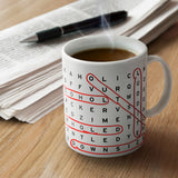 Work Search Word Search Coffee Mug