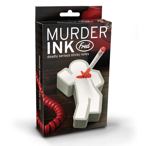Sticky Notes - Murder Ink Pad & Pen Set