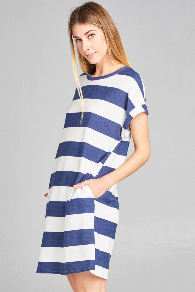 Marie Casual Striped Dress