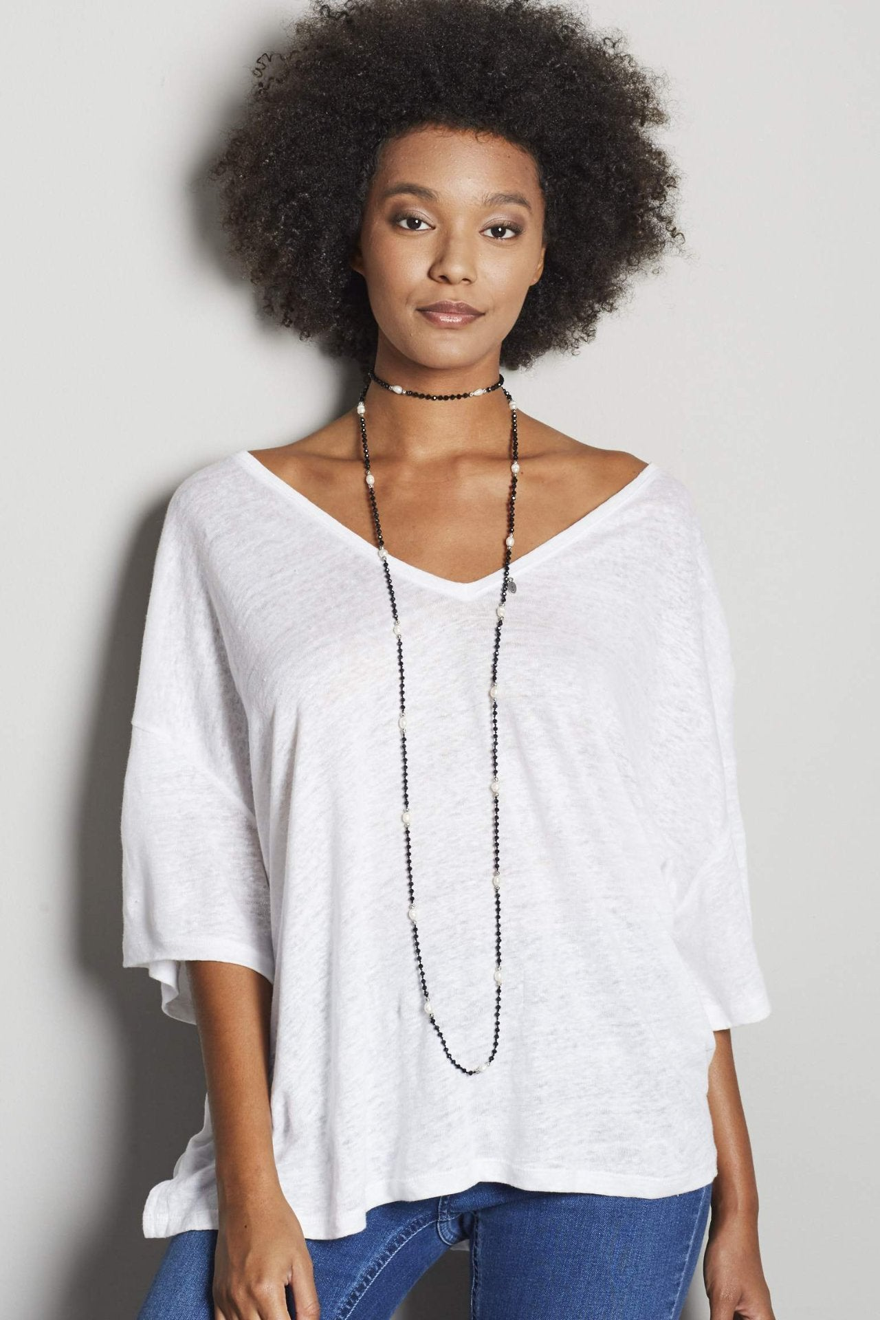 Zacasha Layering Necklace W/Pearls