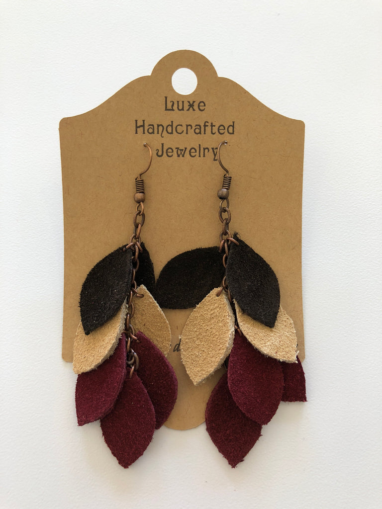 Burgandy Drop Earrings