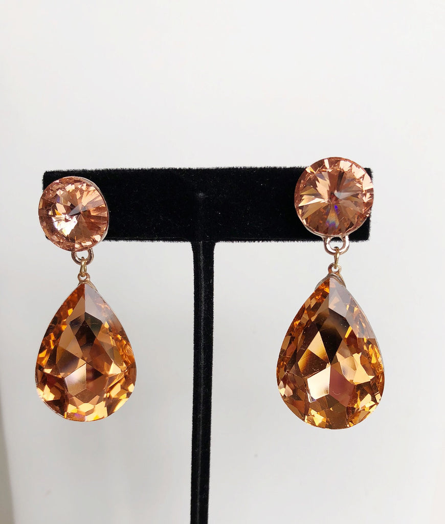 Bronze Gold Tear Drop Earrings