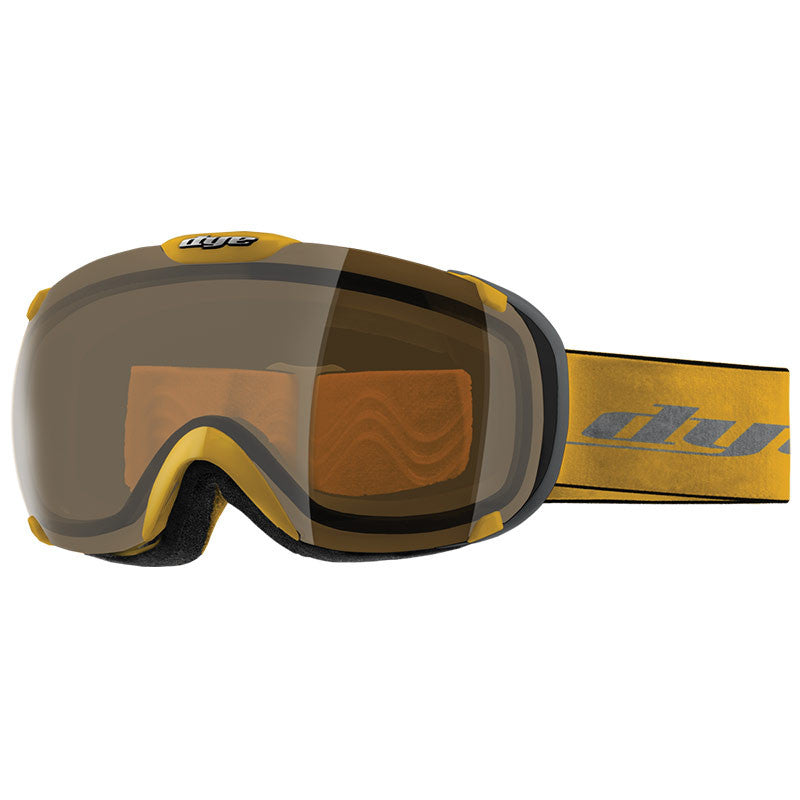 DYE Snow T1 Goggle | Yellow with HD Lens