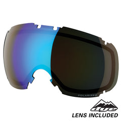DYE Snow T1 Goggle | Red POLARIZED w/ 2x Lenses