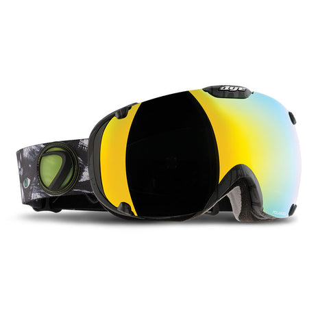 DYE Snow T1 Goggle | Lime / White w/ 2x Lenses