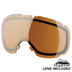 DYE Snow T1 Goggle | White Orange Gold