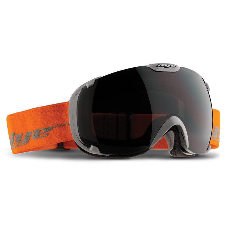 DYE Snow T1 Goggle | Solid Grey / Orange w/ Jet Black
