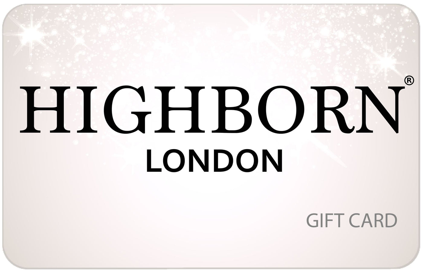 Gift Card Gift Card Highborn London