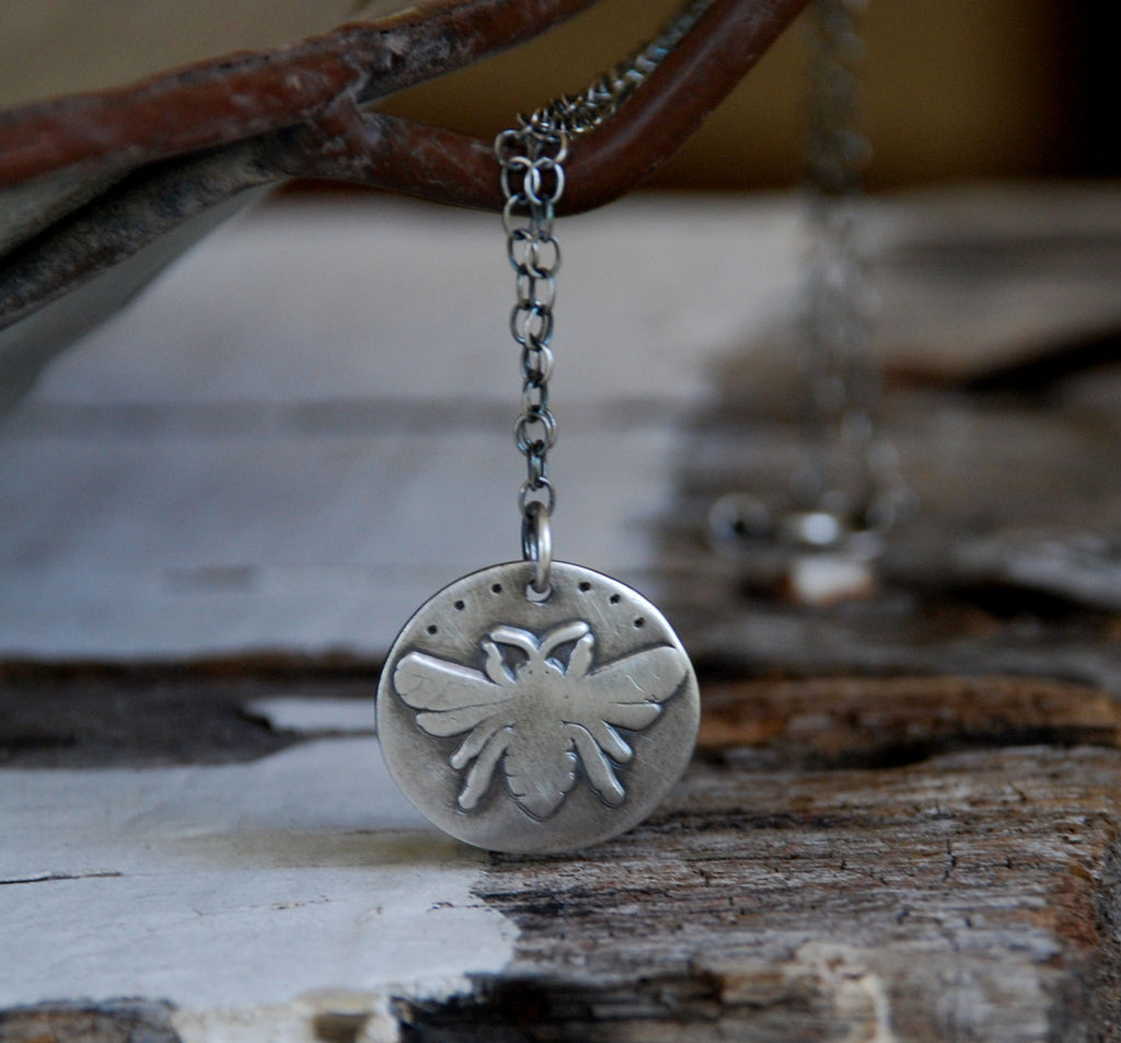 The Queen Necklace - Handmade. Oxidized Fine and Sterling Silver