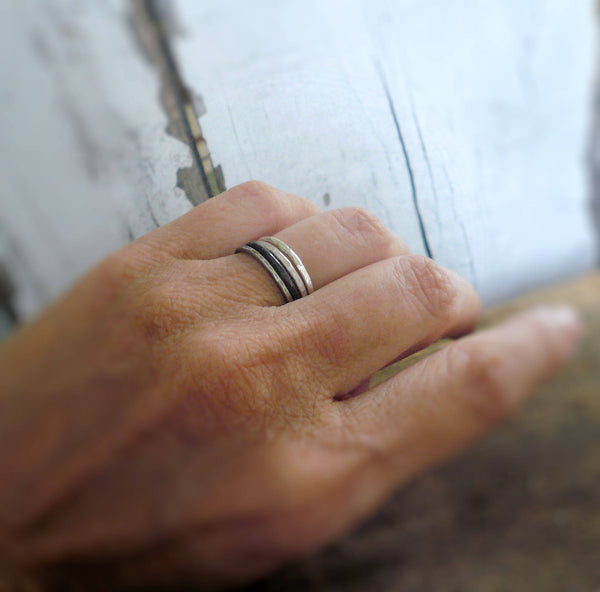 Every Day Ring - Sterling Silver Stacking Ring. Handmade. Hand forged.
