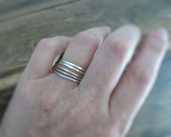 Every Day Ring - 14kt Goldfill Stacking Ring. Handmade. Hand forged.