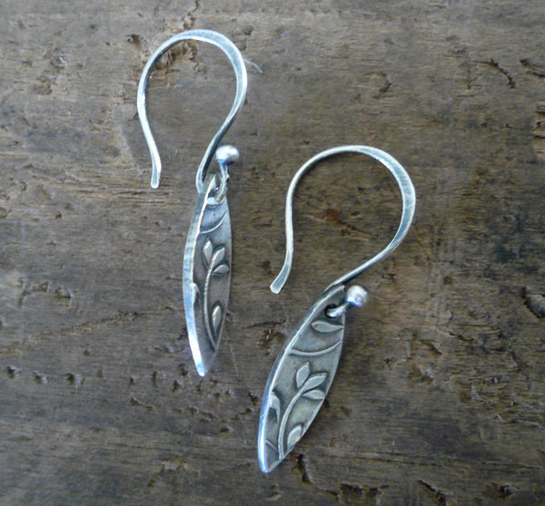 Posy Earrings  - Oxidized fine & sterling silver. Handmade by jNicDesigns
